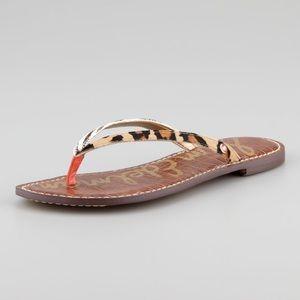 Sam Edelman Gracie Animal Print Calf Hair Sandals
